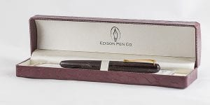 Edison Pen Pearlette Canyon Trail fountain pen box inside
