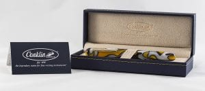 Conklin All American Yellowstone fountain pen inside box
